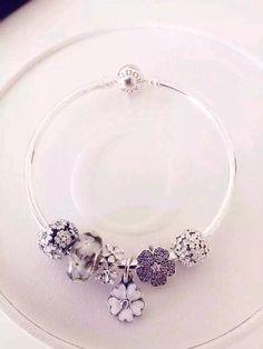 Pandora Sterling Silver Bangle Charm Bracelet CB01436 - Pandora Online Shop