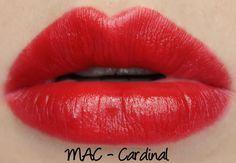 MAC X Philip Treacy Lipsticks - Cardinal Swatches & Review