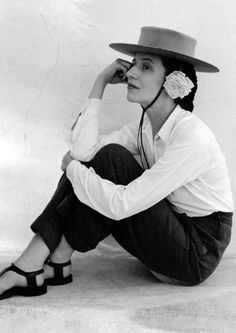 Diana Vreeland. Just look at how she wears those pants and that hat.