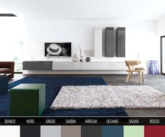 TV Wall Mounted Furniture Configurator for stunning Interior Design -  Wunderschönes Box Lowboard in Hochglanz oder Matt für die Wandmontage in 8 Farben und 4 Breiten. Einfach Konfigurieren.