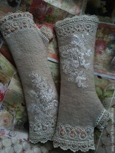 "Mittens by Angelina ""Снежная королева"". Handmade."