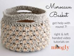 The Moroccan Basket now includes a special video tutorial! Watch and get the FREE crochet pattern on Mooglyblog.com! thanks so xox ☆ ★   https://uk.pinterest.com/peacefuldoves/