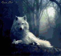 """broderie Scheme """"Wolf"""" - Plans auteur «Vivianna» - Point de Croix"""