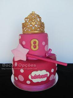 Doces Opções: Bolo do 8º aniversário da princesa Bárbara