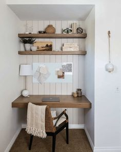 Tiny Home Office, Small Home Offices, Desks For Small Spaces, Home Office Space, Furniture For Small Spaces, Home Office Design, Home Office Decor, Small Space Office, Home Desk