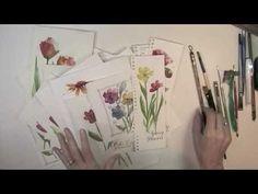 color drop flower workshop by Martha Lever. Demo does complete flower composition.