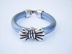 Sales & orders: 4me.bijuteria@gmail.com    Silver leather bracelet with loop | Refª PLÇ002 - 10€