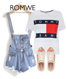 """""""Romwe"""" by juniorke030 ❤ liked on Polyvore featuring Tommy Hilfiger"""