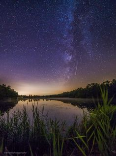 Jennifer Khordi's photo of a Perseid meteor running the length of a dim and setting Milky Way in the early morning hours of last night's meteor shower. Taken in the Pine Barrens, New Jersey.
