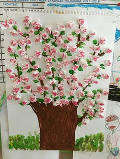 Spring Crafts For Kids Diy For Kids Jar Art Spring Art Art School Art Activities Preschool Crafts Art Lessons Art Projects Valentine Crafts For Kids, Spring Crafts For Kids, Art For Kids, Cherry Blossom Art, Diy And Crafts, Paper Crafts, Spring Art, Art Plastique, Art Activities