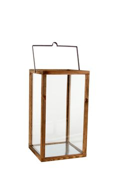 Wood And Glass Urban Lantern| Mrphome Online Shopping