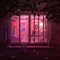 Pink aesthetic background wallpaper shared by 나를 죽여라 Neon Aesthetic, Aesthetic Rooms, Building Aesthetic, Aesthetic Backgrounds, Aesthetic Wallpapers, Tout Rose, Neon Noir, Neon Lighting, Vaporwave