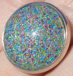 Nail Polish Ring  Pretty & Polished Sand Art by BeadsInk on Etsy, $10.00