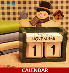 New Home Decorative Desk Calendar , Four Seasons Wooden Craft Universal Calendar , Perpetual calendar , DIY wooden calendar