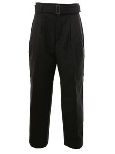 JUUN.J belted tailored cropped trousers. #juun.j #cloth #trousers