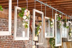This is for a wedding, but different windows hung on my porch would look SO cool!