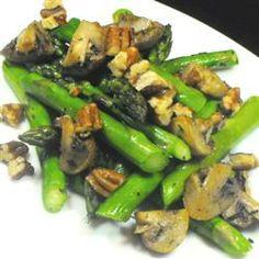 Roasted Asparagus and Mushrooms Allrecipes.com