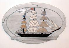 Wood art, Tall Sailing Ship, Wall Decor, by GalleryatKingston, $45.00 USD