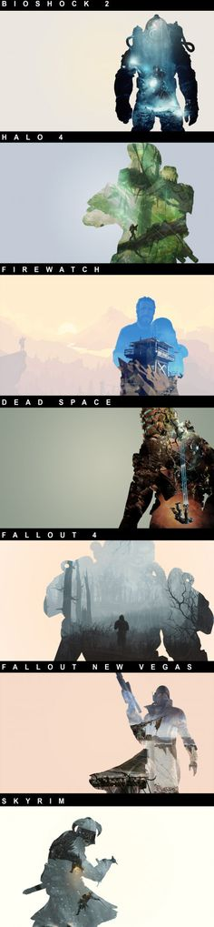 Some double exposure gaming designs I made Part 4 (write in comments what other games you want to see)