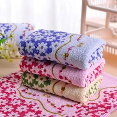 Support wholesale 33 * 73cm Cotton Printed Absorbent Towel Dry Hand Face Towels Three colors