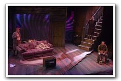 Buried Child, directed by Sam Shepard, Longstreet Theatre South Carolina, set by Richard Block - Theatre Stage Lighting Design, Stage Design, Cool Lighting, Lighting Ideas, Set Design Theatre, Prop Design, Design Art, Stage Set, Scenic Design