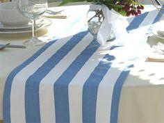 Navy Blue And White Striped Table Runner Navy Blue Edges | Nenau0027s Baby  Shower | Pinterest | Nautical Table, Striped Table Runner And Navy Blue