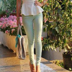 Distressed Mint Jeans Zara Core Denim Mint Skinny / Slim distressed jeans. NWOT. Size 6. 💚Please send reasonable offers through the offer button!💚 Zara Jeans Skinny