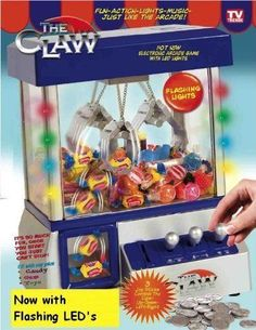 THE CLAW: Electronic Candy & Toy Grabber Arcade Game Machine. Great Xmas gift! #Etna