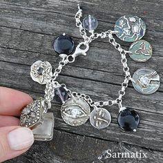 Handmade silver bracelet. OOAK.