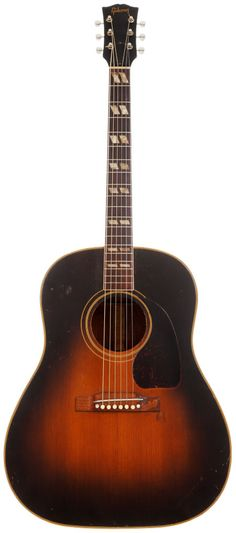 1953 Gibson SJ Sunburst Acoustic Guitar, Serial # Y5084. All original finish on top and sides with nicks, scratches and weather checking.
