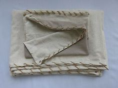 Oryginal Natural Eco single two side duvet cover, with jute rope. 2 pcs  http://www.ebay.co.uk/itm/251520043560?ssPageName=STRK%3AMESELX%3AIT&_trksid=p3984.m1555.l2648