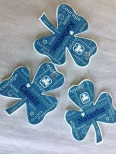Use shrinky-dinks to print girl guide logo and names for great camp hat crafts to tell hats apart. They also make great gifts for the kids. Posted by Katherine Evans-Pearson‎ to Guides Canada - Unofficial (facebook group), made by Louise Winhold.