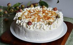 TORT CU MERE SI CREMA DE ZAHAR ARS - Rețete Fel de Fel Something Sweet, Diy And Crafts, Deserts, Sweets, Cooking, Recipes, Food, Romania, Flowers