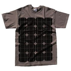 Solar Cell T Shirt - Solar Panel Print - Alternative Energy Geek - by ScreamPrinting on Etsy