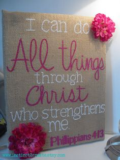 CUSTOM Burlap canvas Bible verse/quote wall by Instinct2create