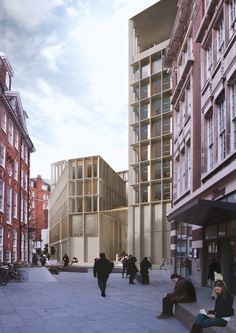 Image 7 of 24 from gallery of LSE Reveals 6 Schemes for its Paul Marshall Building. Image Courtesy of RIBA David Chipperfield Architecture, London Architecture, Urban Architecture, Commercial Architecture, Classical Architecture, Residential Architecture, Cladding Design, Facade Design, Building Rendering
