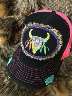 A personal favorite from my Etsy shop https://www.etsy.com/listing/242707924/steer-cap