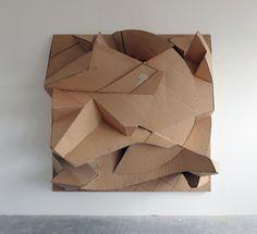 Florian Baudrexel's Gyll sculpture in cardboard on aluminium frame 2013
