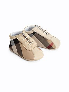 Burberry Infant's Check Crib Shoes