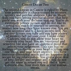3rd July - July 12th #cancer #decans #astrology #badastrology #starsigns #zodiac