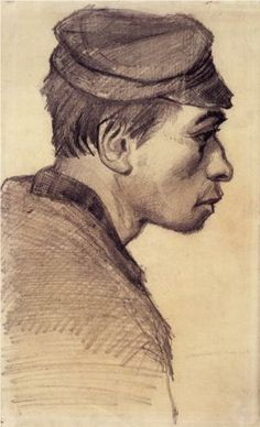 Head of a Young Man - Vincent van Gogh