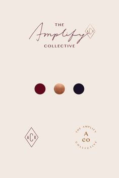 The Amplify Collective Branding by Little Trailer Studio. I love how sophisticated this turned out and the website design is sleek and easy to navigate. Click through to see the full project!