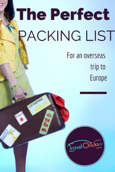 Perfect Packing list for women. Good for overseas trips - Europe! Downloadable PDF to print or fill out.