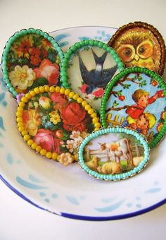 Beautiful large handmade brooch -Owl-