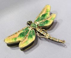 New Trinket Box Pewter Crystals Mysterious Dragonfly