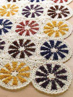 Rustic Circles Afghan free crochet afghan pattern
