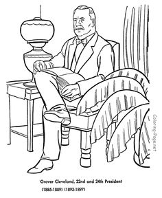 grover cleveland us president coloring pages
