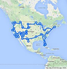 An optimal road trip of all the national parks in the continuous United States. Made by Travis Tamez for IsleBox.com!