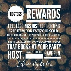 Lularoe hostess rewards #lularoealyshatarr