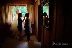 Bride Getting Makeup Done Kristen Borelli Photography Victoria Wedding Photographer Pine Lodge Farms